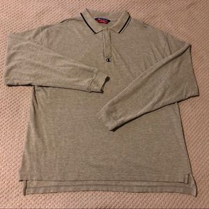 Champion Athletic Long Sleeve Polo Rugby Shirt